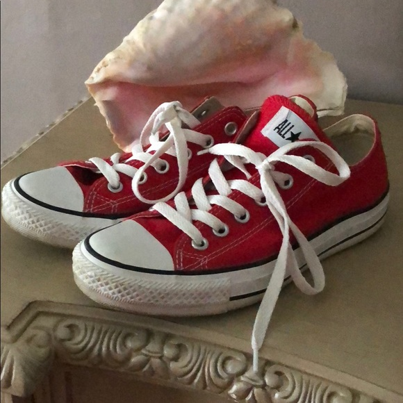e0c0d77ec4e5 Converse Shoes - Converse bright red shoes size 7